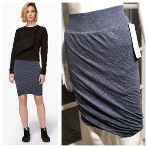 Lululemon Athletica boulevard bliss blue skirt
